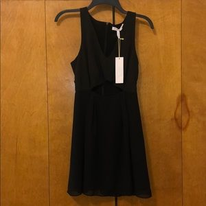 BCBGeneration Black Cutout Cocktail Dress Size 0
